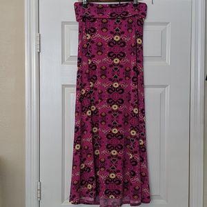 LULAROE Print Maxi Skirt